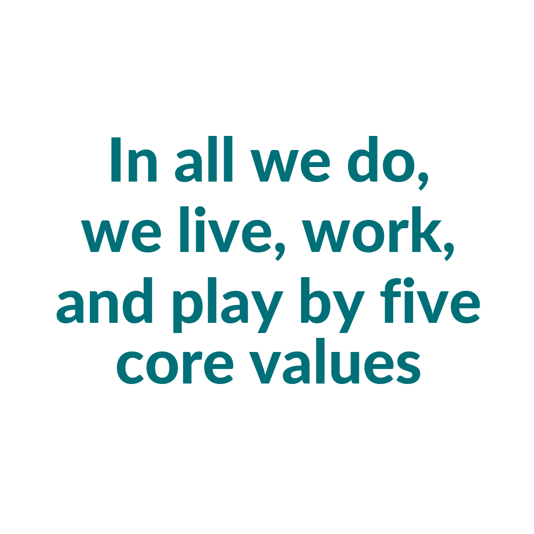 Core Values Headline